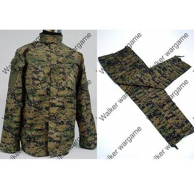 BDU Battle Dress Uniform Full Set - US MARINE Digital Woodland Camo Marpat