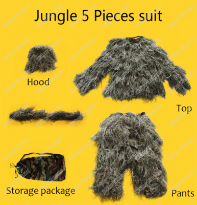 Sniper Ghillie Suit 3Piece Set - Woodland