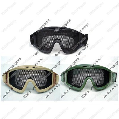 Airsoft No Fog Metal Mesh US Amry Style Goggle - Black, Tan, OD