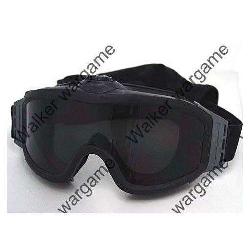 Turbo Fan Goggles With Two Lens - Black