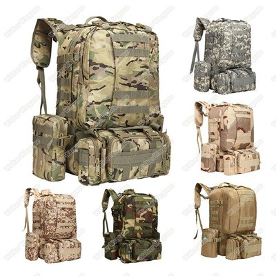 US Tactical Molle Assault Backpack Bag 50L - Multi Color