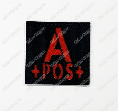 LWG009 A POS - Laser Cut Reflective Blood Type Patch With Velcro