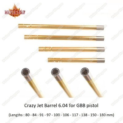 Maple Leaf Crazy Jet Inner Barrel For GBB Pistol - Multi Length