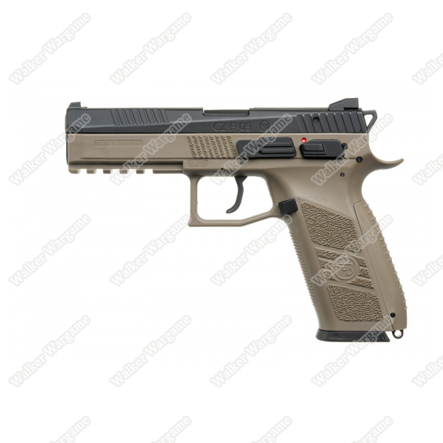 KJ Works CZ-75 P-09 Duty Airsoft Green Gas Blow Back Pistol - Tan