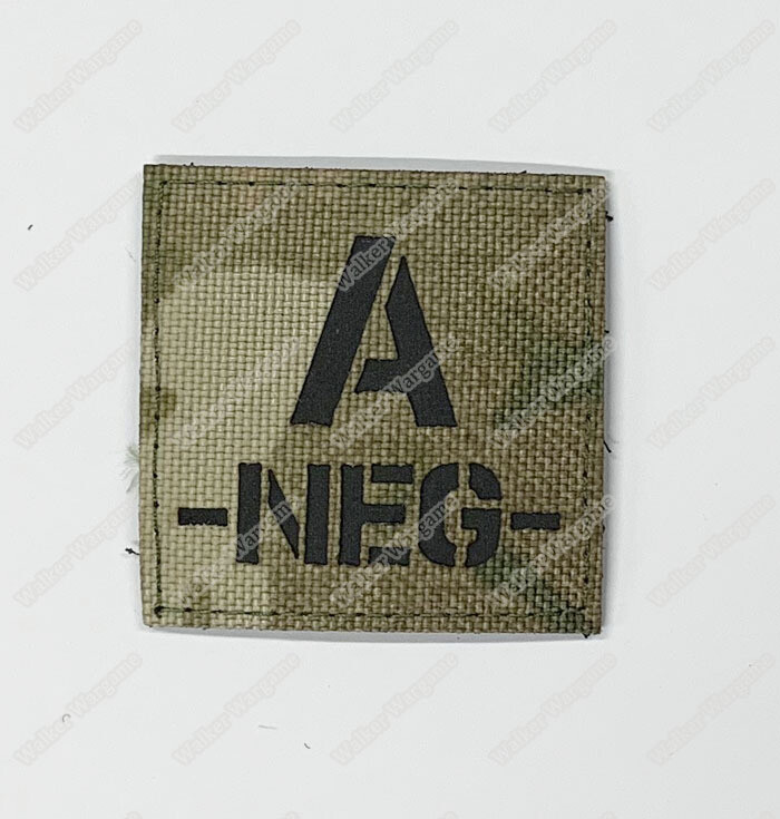 LWG021 A NEG Blood Type Multicam - Laser Cuting Patch