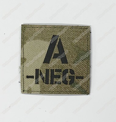 LWG021 A NEG Blood Type Multicam - Laser Cut Patch With Velcro