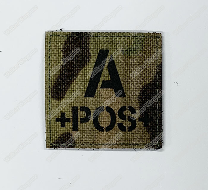 LWG017 A POS Blood Type Multicam - Laser Cut Patch With Velcro