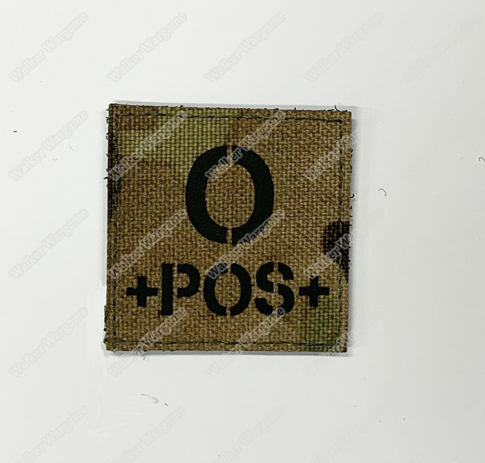 LWG016 O POS Blood Type Multicam - Laser Cuting Patch