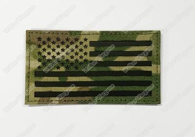 LWG001 US Flag MC Multicam Left Arm - Laser Cut Patch With Velcro