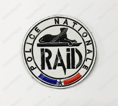 WG123 RAID French National Police Patch With Velcro - Full Colour