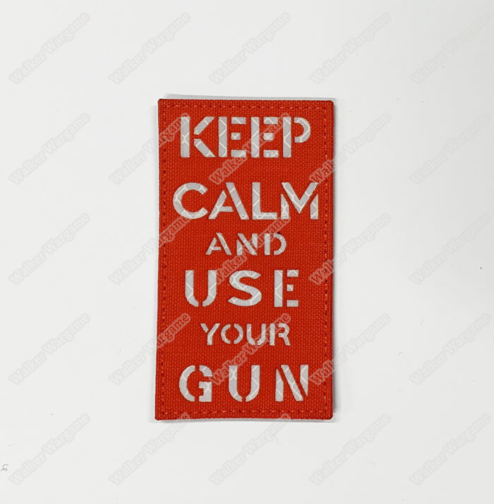 LWG002 Keep Calm Use Gun EDC - Laser Cut Patch