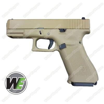 WE Tech Glock 19X Gen5 Green Gas Blow Back Pistol - Tan