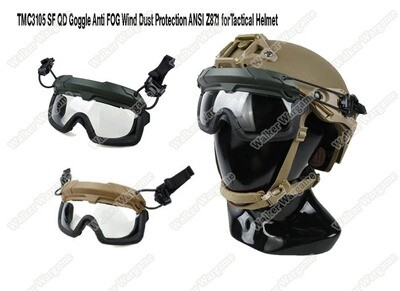 TMC SF Tactical Helmet QD Goggle Anti FOG Wind Dust Protection ANSI Z87.1