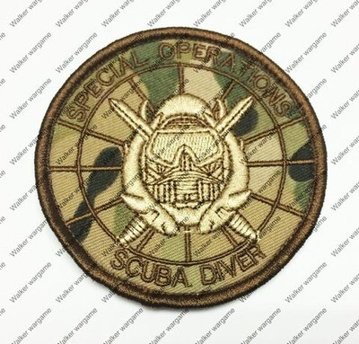 B1748 SEAL Team Scuba Diver Patch With Velcro - Multicam Colour
