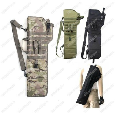 Tactical Shoulder Carry Or Molle Rifle Scabbard Fit M4 AK Shotgun