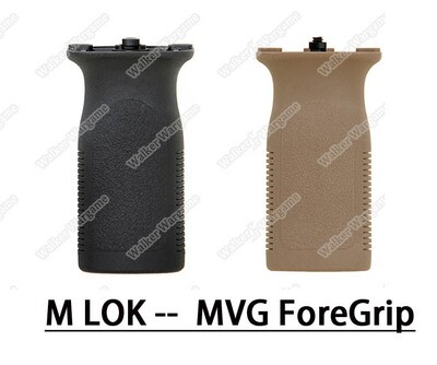FMA MLOK MVG Front Railed Vertical Grip Slot Key Foregrip - Black Tan