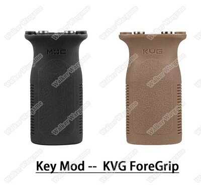 FMA KeyMod KVG Front Railed Vertical Grip Key Mod Slot Key Foregrip - Black Tan