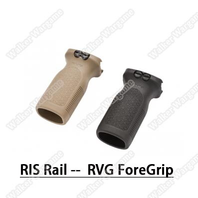 Short Grip RVG Vertical Foregrip Grip - Black Tan