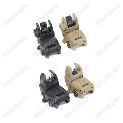 M-Sytle PTS Back Up Folding Sight One Set - Black & Tan