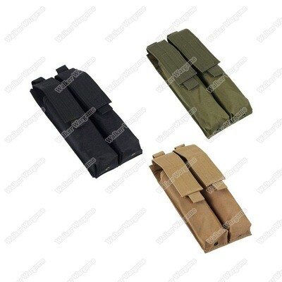 Tactical Double P90 UMP Mp5 Molle Magazine Pouch - Black & Tan