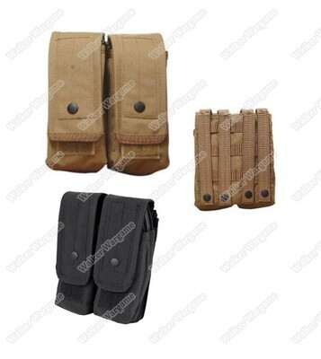 Tactical Double AK 7.62 Molle Magazine Pouch Black & Tan​