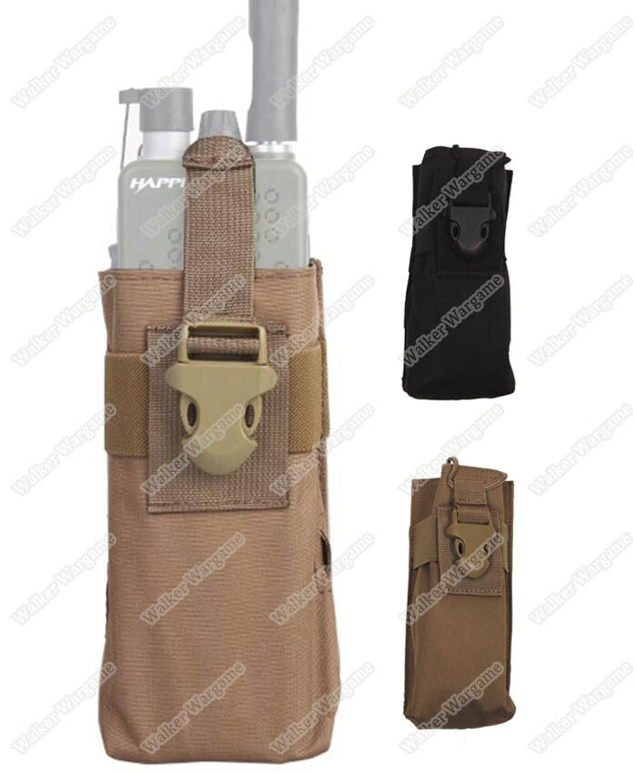 Tactical Molle Radio Pouch - Multi Color Fit Radio GreenGas Water Bottle