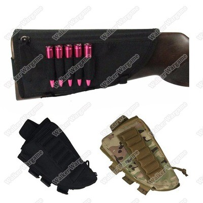 Flyye Shotgun Rifle Ammo Pouch Cheek Pad - Black & Multicam