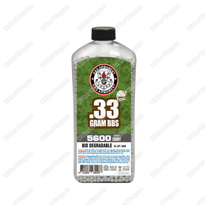 G&G 0.33g High Quality Precision Grade Biodegradable BB - 5600rds Bottle