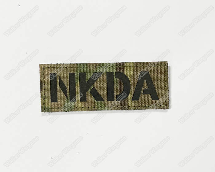 LWG029 NKDA No Known Drug Allergies Multicam - Laser Cut Patch With Velcro