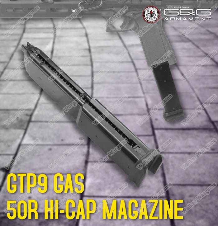 G&G 55rd Green Gas Pistol Long Magazine for G&G GTP9  GBB Black