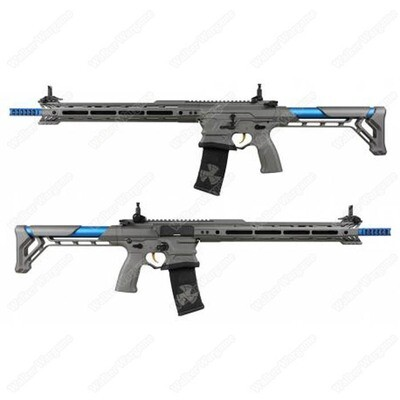 ETA April 2020 - G&G BAMF Team Cobalt Kinetics M4 Advanced ETU Airsoft Rifle Grey / Blue