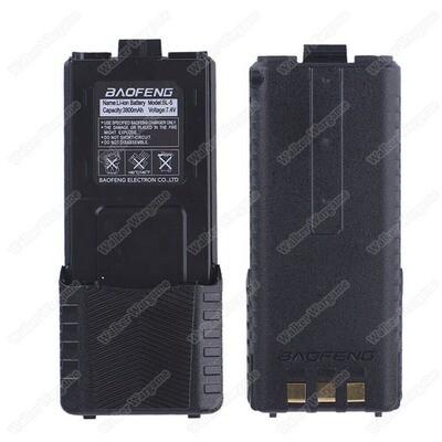 Baofeng UV5R Two-Way Radio 7.4v 3800mAh Long External Battery