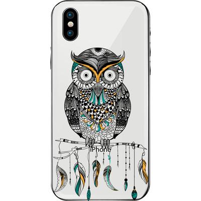 Tribal boho style owl