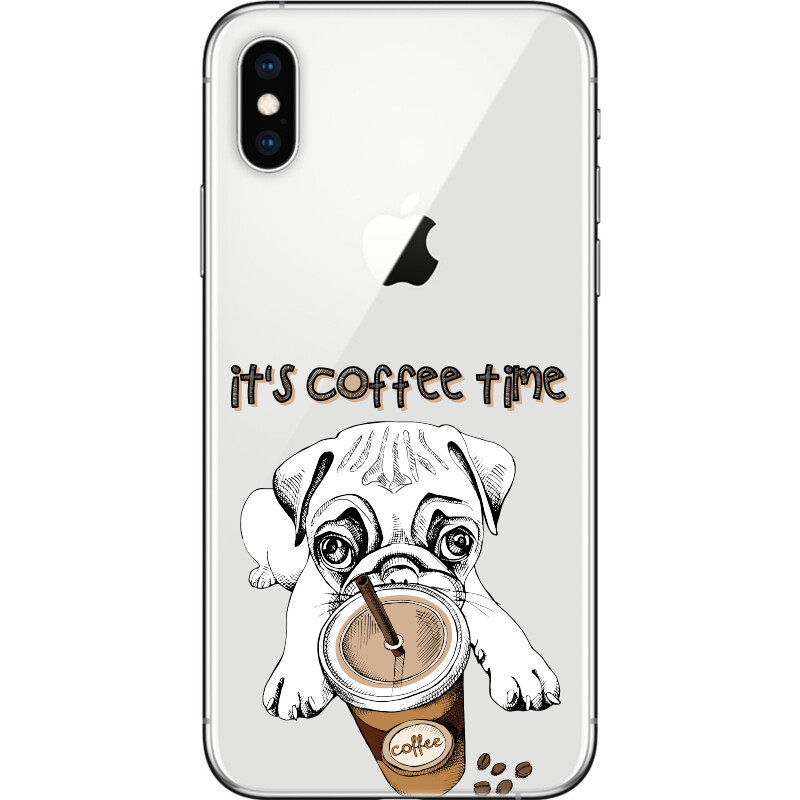 Puppy coffee time