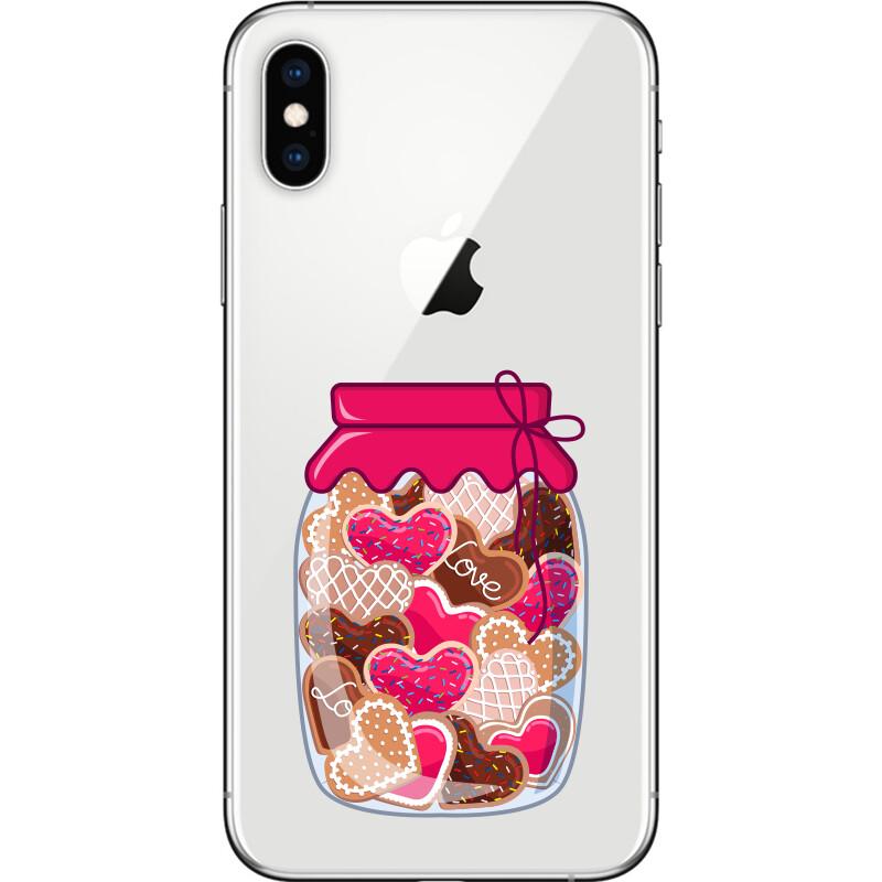 Jar of heart shaped cookies