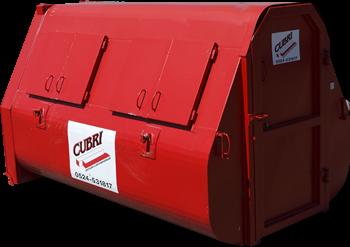 Dichte 9m3 Container voor Bouw- en sloopafval
