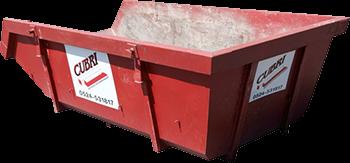 Open 6m3 Container voor Bouw- en sloopafval