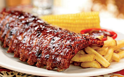2 Racks Fully Cooked Ribs In Bbq Sauce