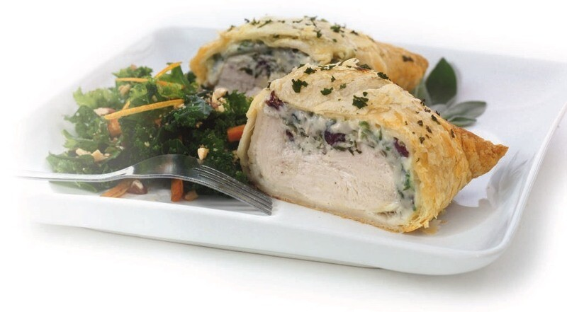 Gorgonzola & Cranberry Chicken Breasts In A Puff Pastry