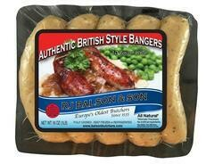 Authentic All Natural British Style Bangers