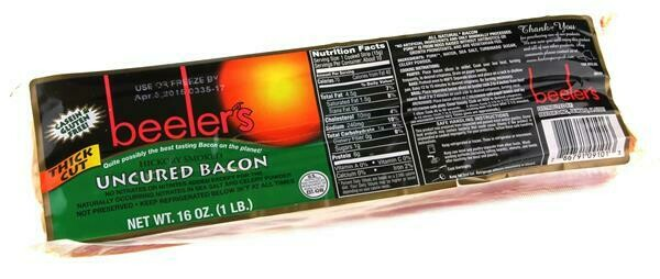 Beelers All Natural Uncured Bacon Hickory Smoked Regular
