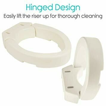Amazing Vive Hinged Toilet Seat Riser Elevated Raised Seat Lifter Pdpeps Interior Chair Design Pdpepsorg