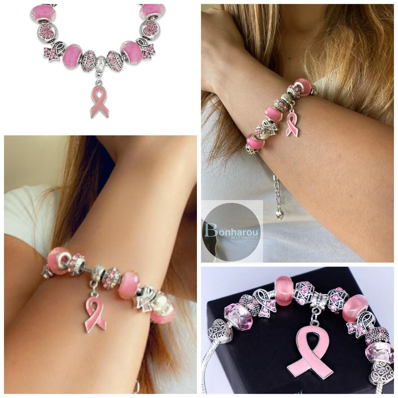 BREAST CANCER PANDORA BRACELET