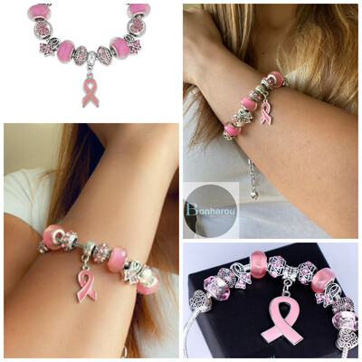 BREAST CANCER PANDORA BRACELET