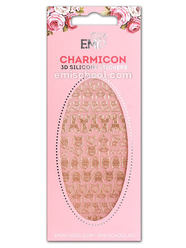 Charmicon 3D Silicone Stickers #74 Animals. Graphics