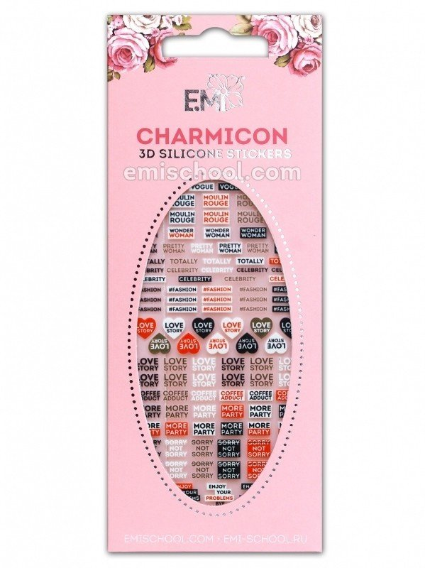 Charmicon 3D Silicone Stickers #85 Words