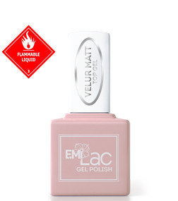 E.MiLac Velur Matt Top Gel, 9 ml