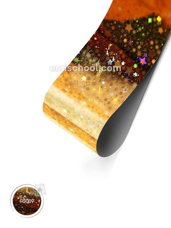 """Holograafiline Foolium """"Gold Stars"""", 1.5 m"""