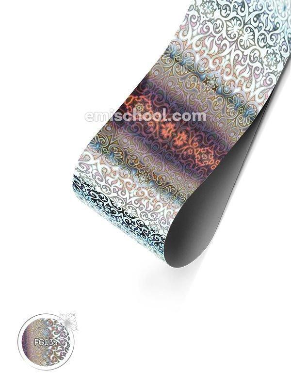 """Holograafiline Foolium """"Silver Arabesque"""", 1.5 m"""