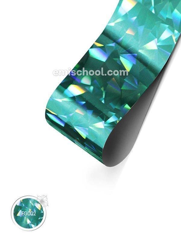 """Holograafiline Foolium """"Turquoise Crystal"""", 1.5 m"""